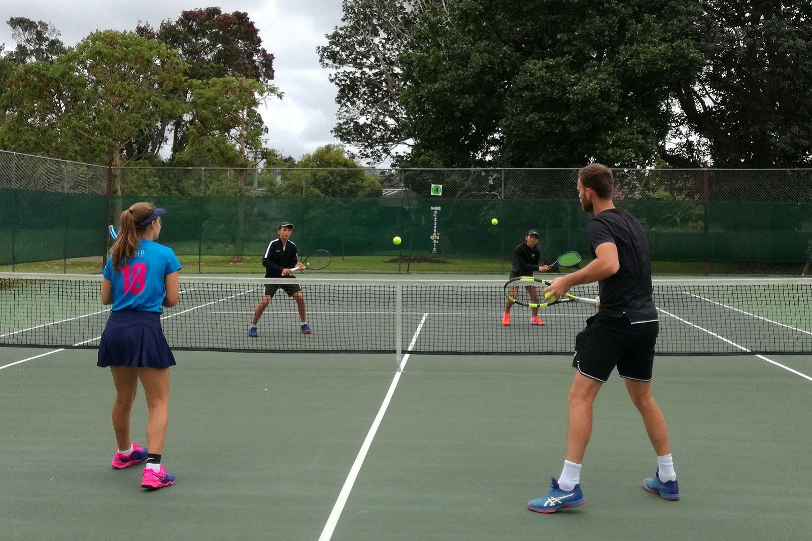Michael Venus tennis lesson