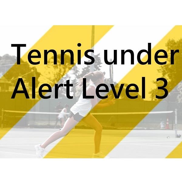 Playing tennis at Alert level 3