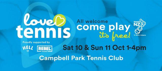Love Tennis Open Weekend at Campbell Park